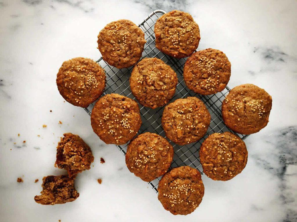 Multigrain Carrot, Date & Mustard Muffins