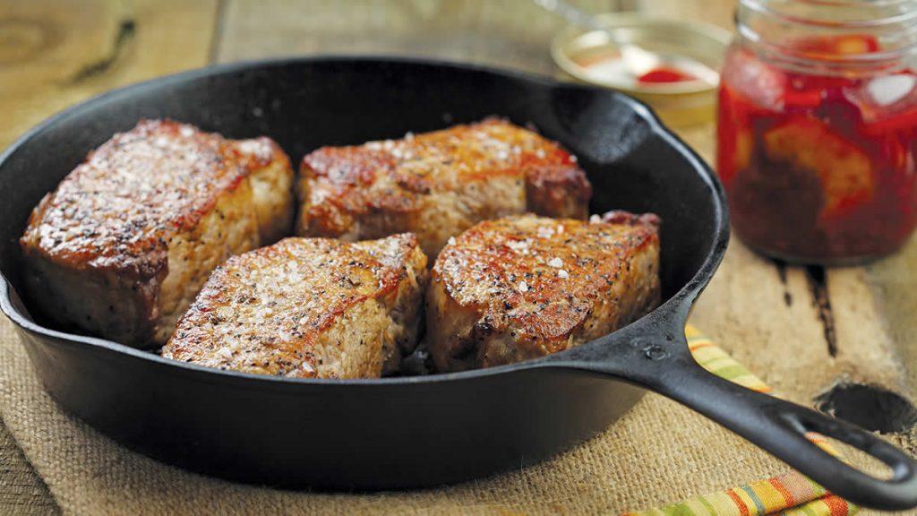 Pork-Loin-Chops-with-Cranberry-Peach-Chutney
