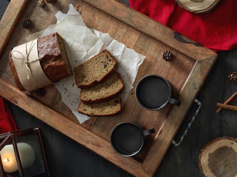 Cinnamon Zucchini Flax Loaf