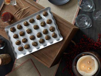 Cocktail-Sized Baked Lentil Meatballs