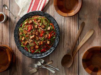 Crispy Tofu Noodle Bowl