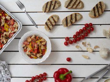Garlicky Grilled Vegetable Panzanella