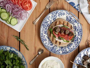 Mediterranean Beef and Barley Koftas with Tahini Yogurt Sauce
