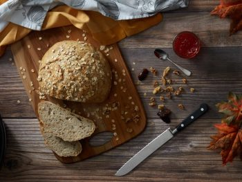 No Knead Oat Bread with Flax