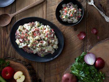 Warm Winter Potato Salad with an Apple Twist