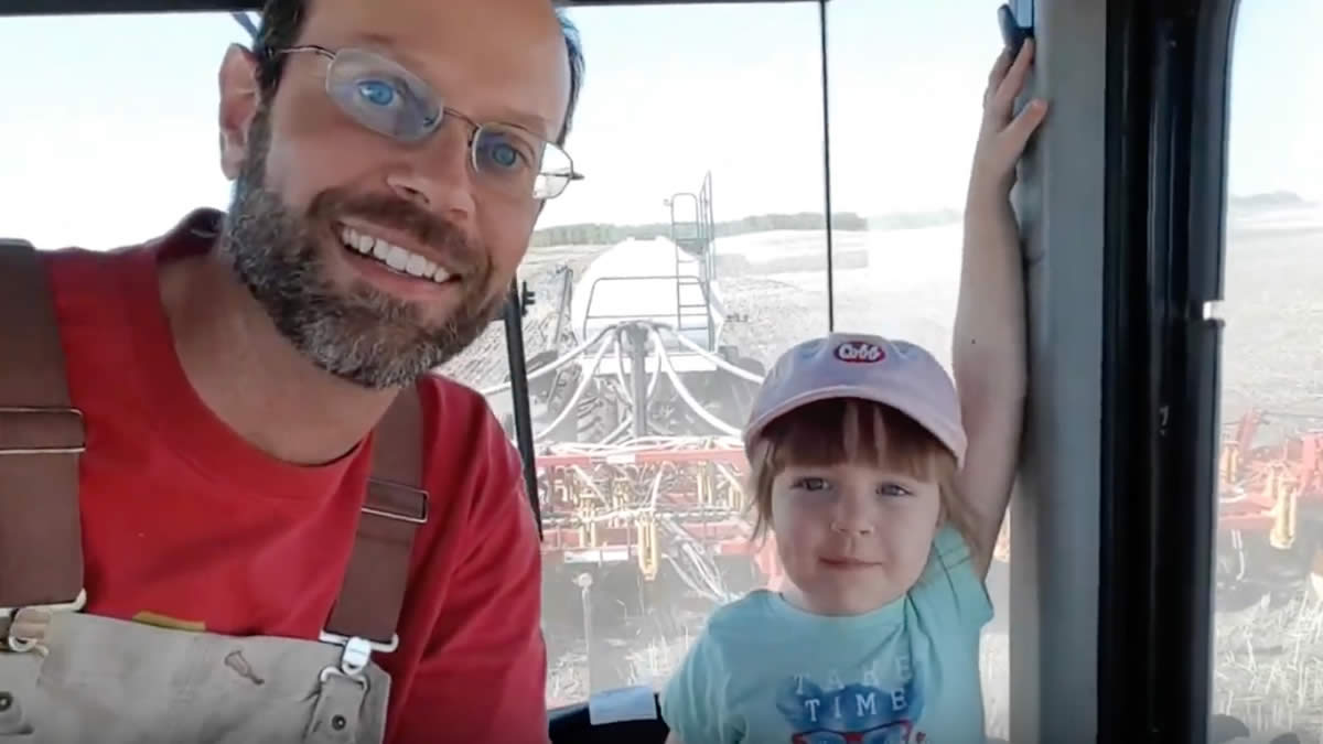 Four Year Old Explains Seeding Barley