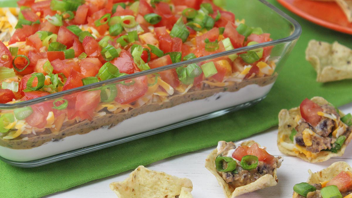 flax-and-black-bean-layer-dip