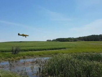 Sustainable-Farming-aerial-fungicide application