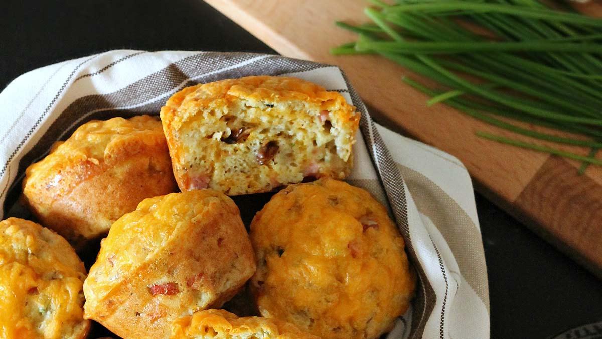 ham-cheddar-and-mushroom-muffins