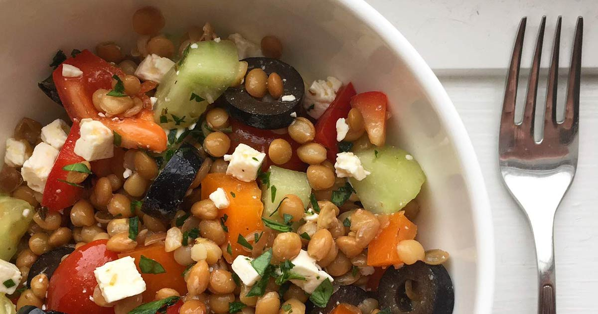 easiest-greek-lentil-salad