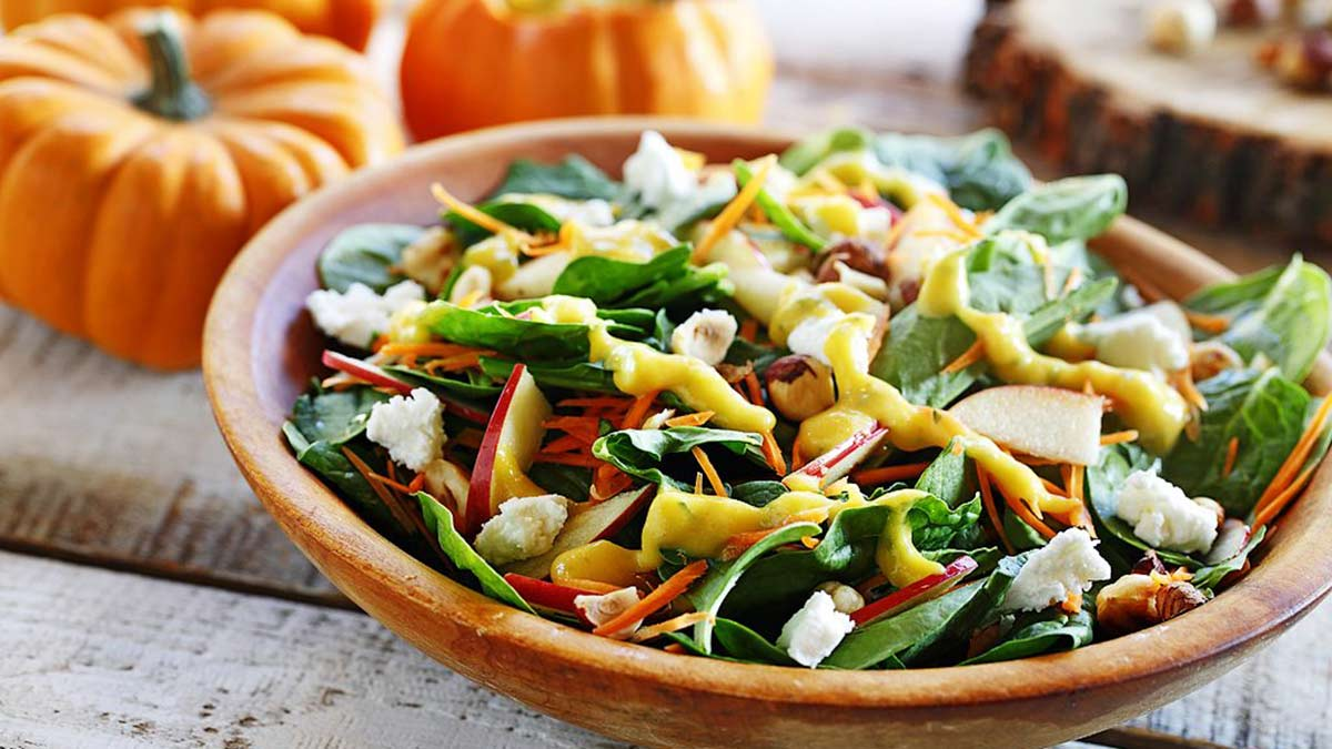 harvest-salad-with-grilled-pumpkin-dressing-toasted-hazelnuts