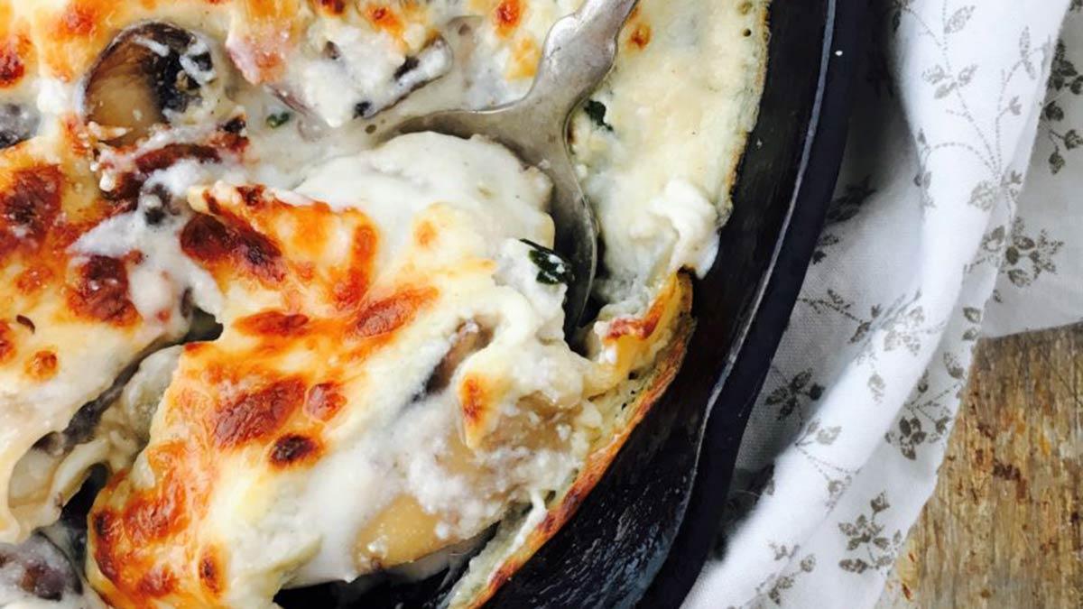 skillet-mushroom-lasagna