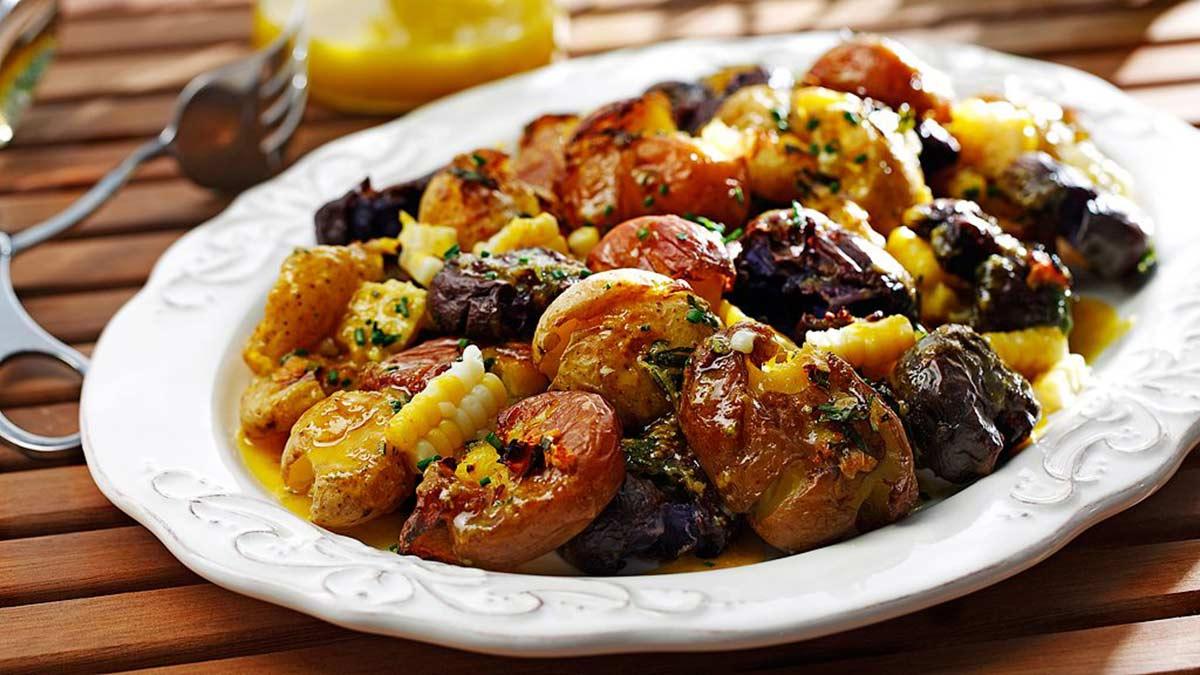 Smashed-Potato-and-Corn-Salad