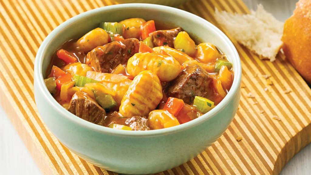 Gnocchi and Beef Stew