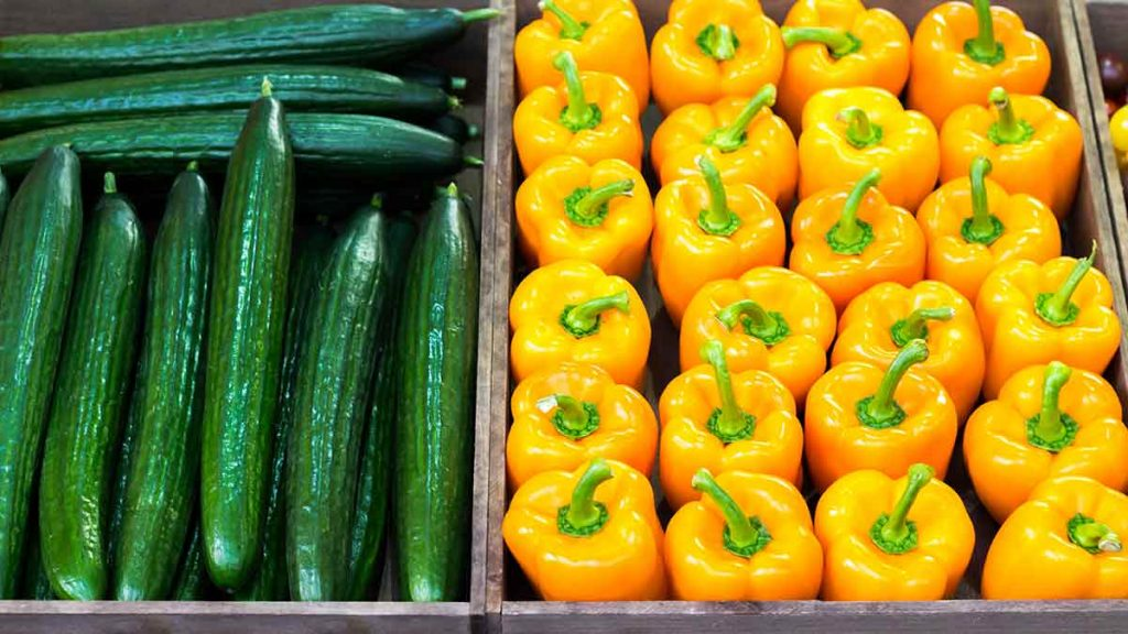 bell peppers cucumber store