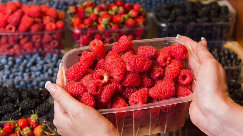 buying raspberries