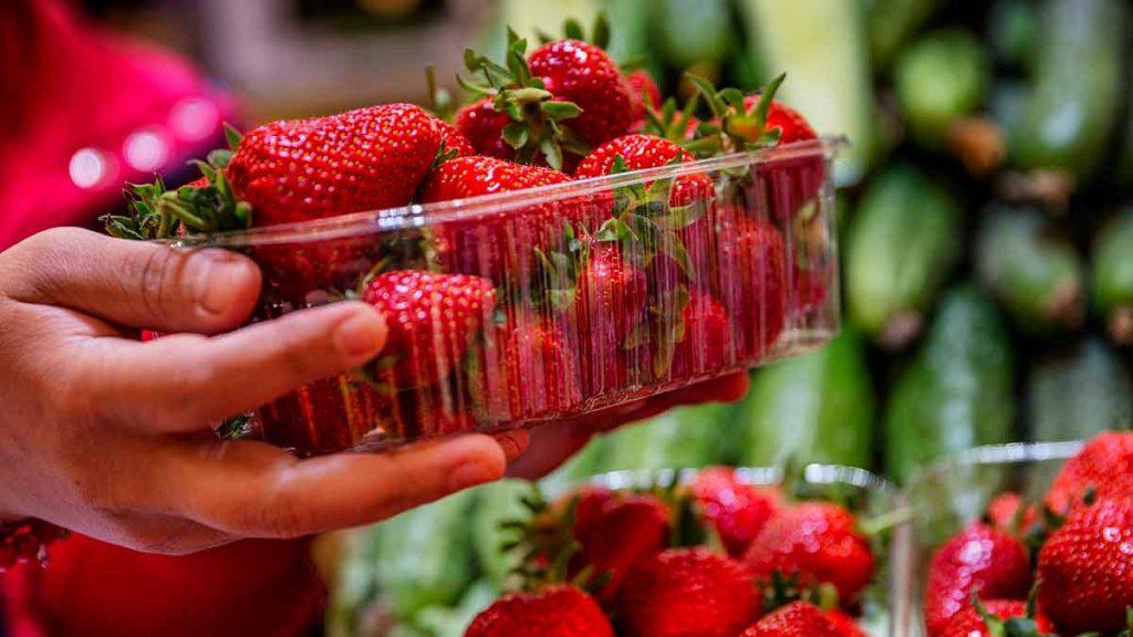 buying strawberries