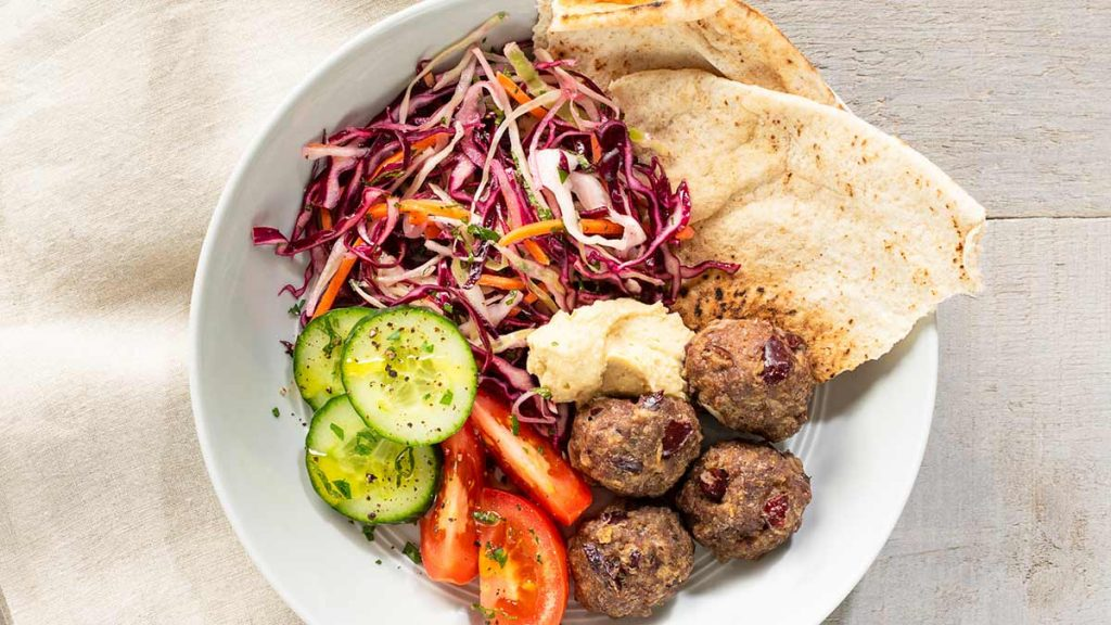 Moroccan-Meatball-with-Herb-Slaw