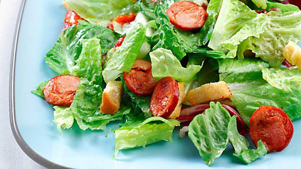 warm-chorizo-salad-with-red-wine-vinaigrette