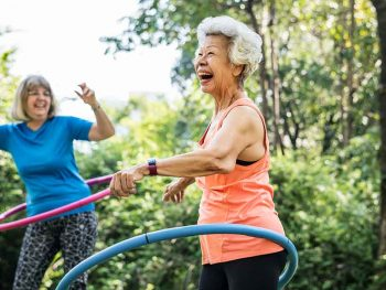 senior lady exercising