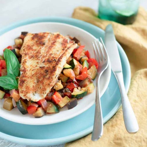 blackened-basa-fillets-with-rataouille